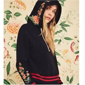 Mother Denim The Square Hoodie Intertwined Floral
